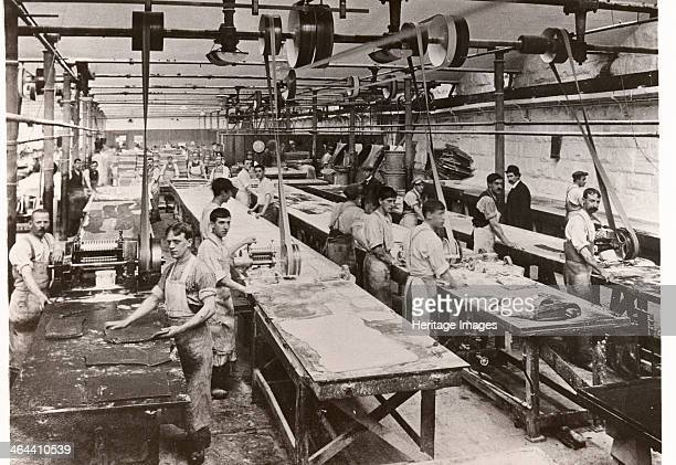 Men breaking toffee Mackintosh Factory Halifax West Yorkshire 1912