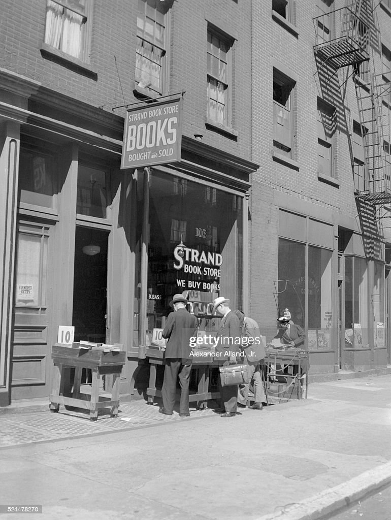 Men Browsing Outside the Strand Bookstore