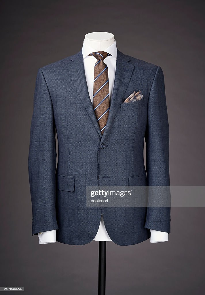 men business suit on grey background : Stock Photo