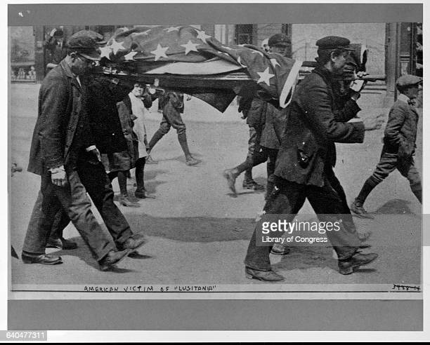 Men Carrying American Victim of the Lusitania Sinking