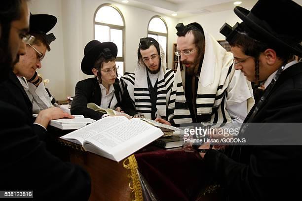 Men celebrating Purim
