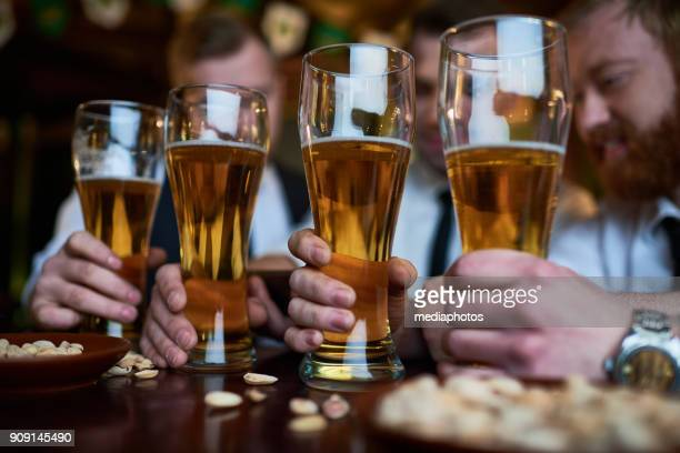 Men choosing beer for perfect leisure
