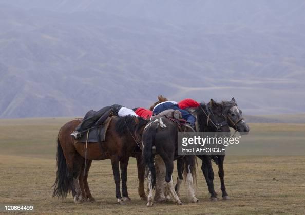 Men Competing In A Horse Game, Saralasaz Jailoo in