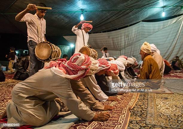 Men dancing during a wedding ceremony qeshm island tabl Iran on December 22 2015 in Tabl Iran