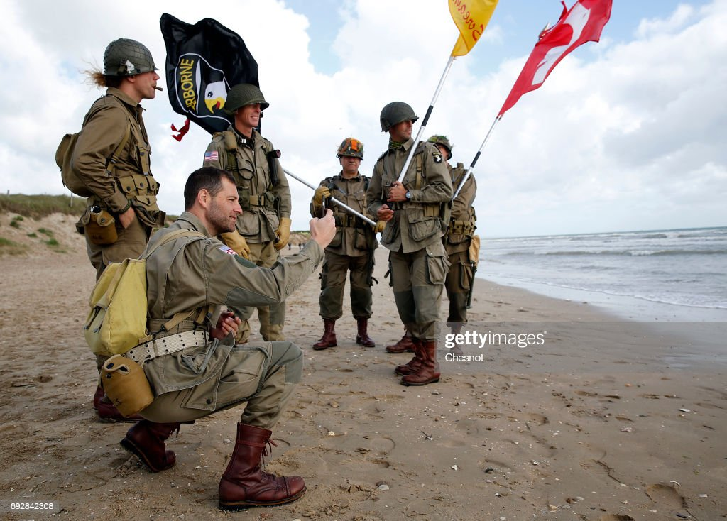 Men Dressed With Us 101st Airborne Division Military Uniforms Pose On News Photo Getty Images