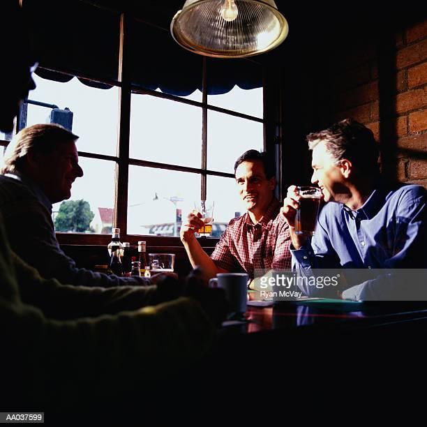 Men Drinking in Bar