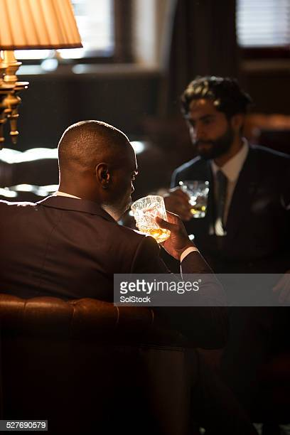 Men Drinking Whisky