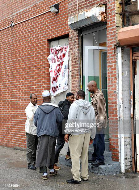 Men enter the Futa Islamic Center a mosque that serve exiles from Guinea in the Bronx borough of New York May 23 2011 The woman who has accused...