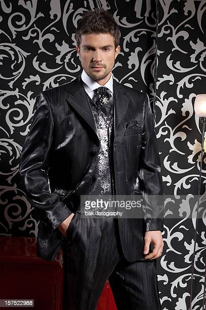 men fashion - gigolo stock photos and pictures