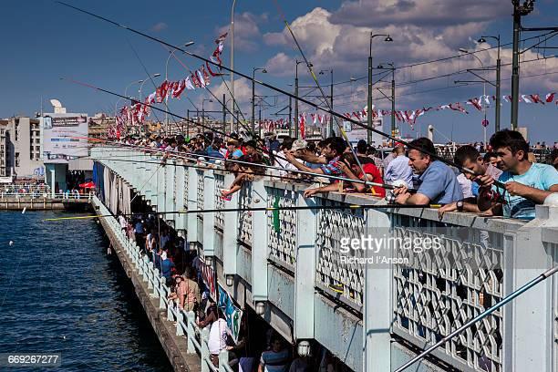Men fishing from Galata Bridge