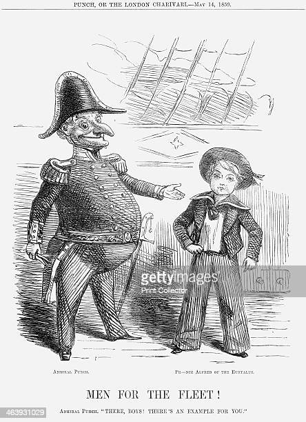 'Men for the Fleet' 1859 In May 1959 Prince Alfred Queen Victoria's second son was appointed aboard HMS 'Euryalus' Although he is depicted as a child...