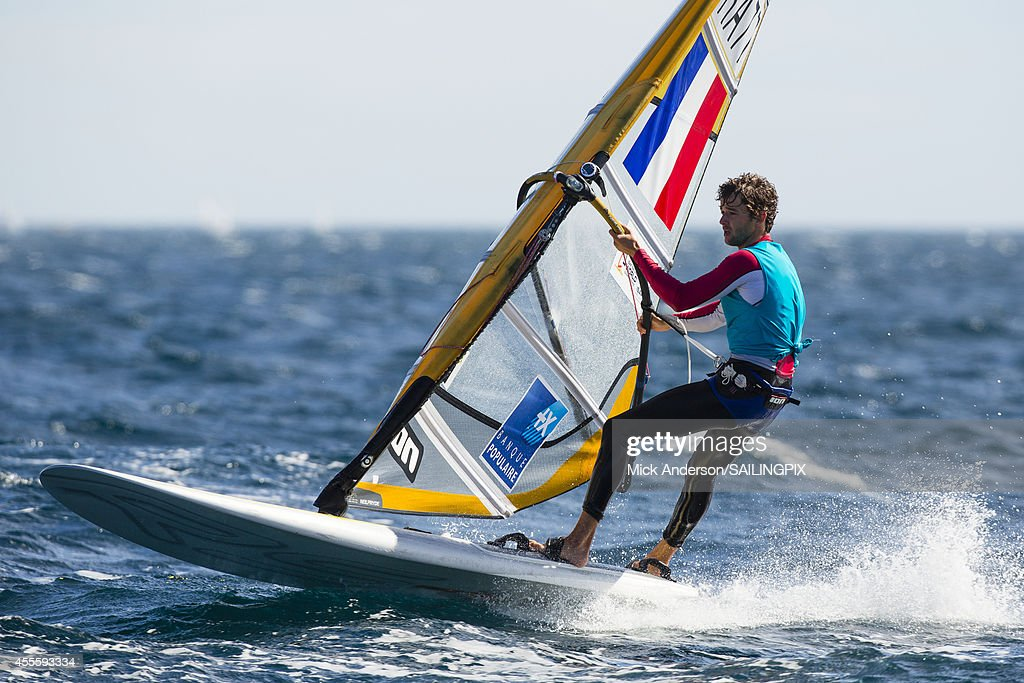 Men - FRA77 - Pierre LE COQ in action during Day 6 of the 2014 ISAF Sailing World Championships on September 17, 2014 in Santander, Spain.