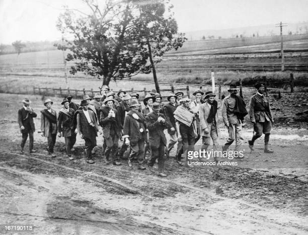Men from the town of Gilgandra in Australia who are marching 320 miles to Sydney to join the Allied campaign in the Dardanelles also known as the...