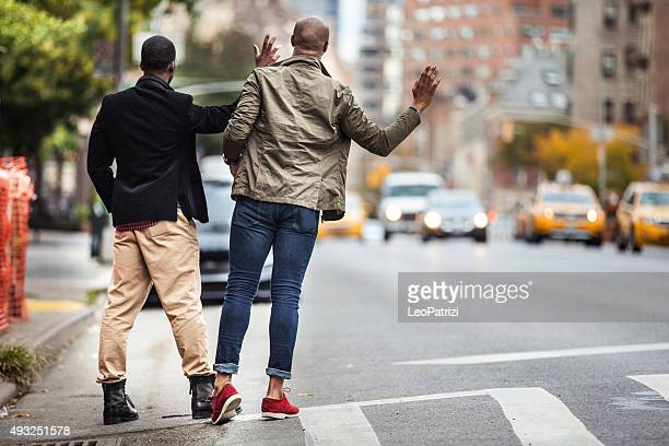 Homens Neblina um Táxi de Nova Iorque