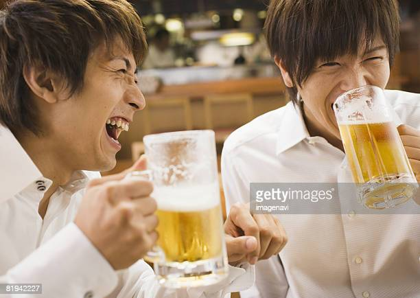 Men Having a Beer in Pub
