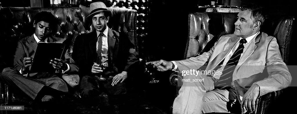 Men In A Bar : Stock Photo