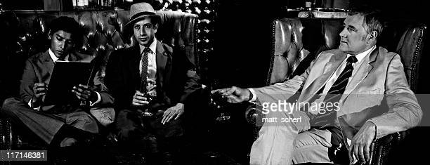 men in a bar - gangster stock pictures, royalty-free photos & images