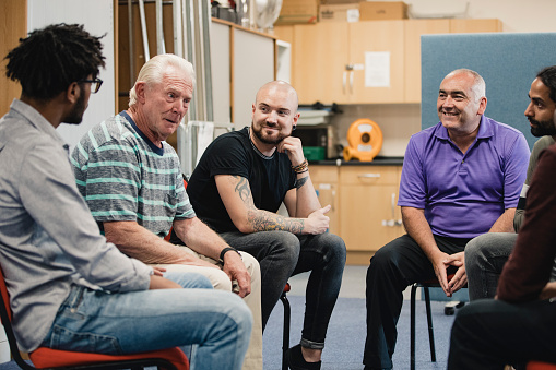 Men in a Support Group 1048189202