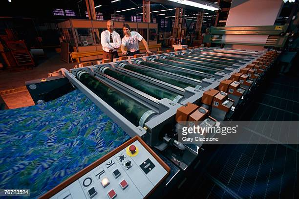Men in a textile mill