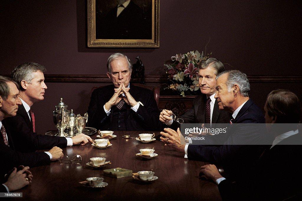 Men in business meeting : Stock Photo