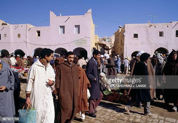 Men in Ghardaia market Algeria