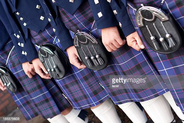 men in kilts - kilt stock photos and pictures
