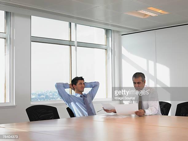 Men in meeting room