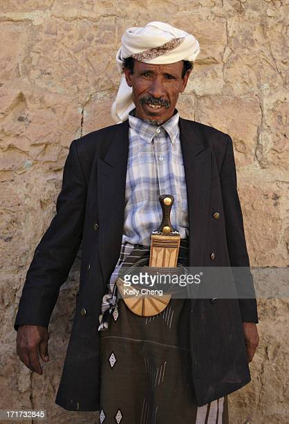Men in North Yemen, young or old, wear a curved dagger called jambia. It is worn on a belt as an accessory to their clothing. It is said that a...