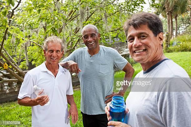 Men in park after exercising
