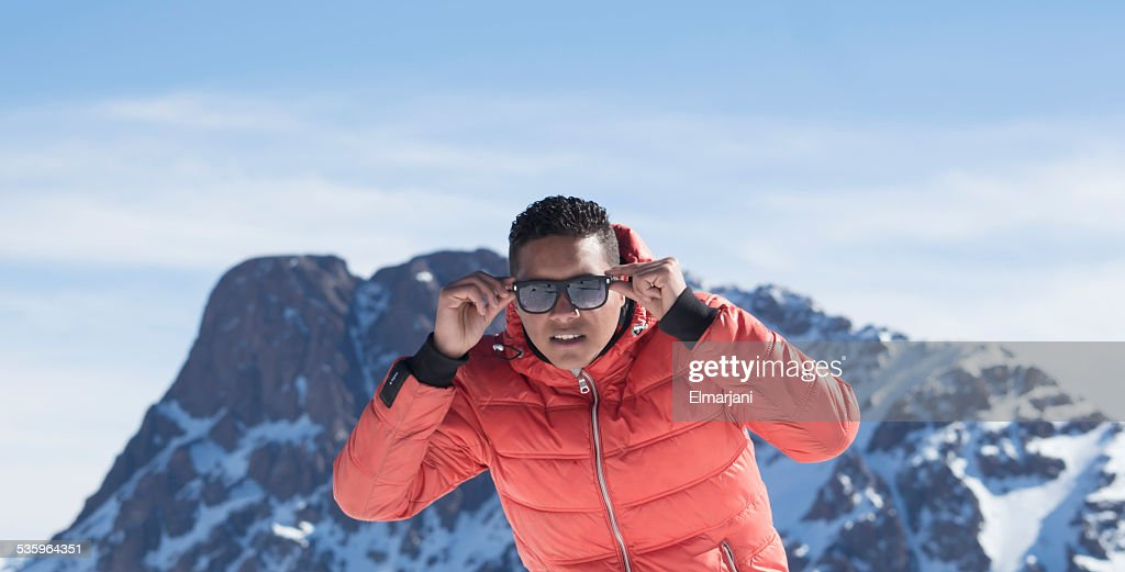 Men in snow : Stock Photo