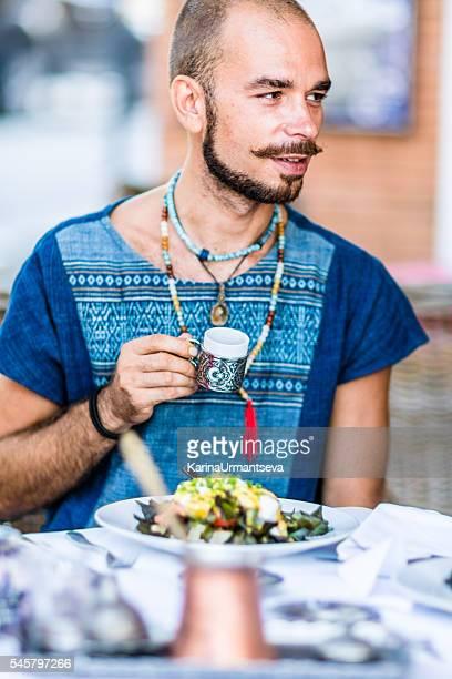 Men in the Turkish restaurant