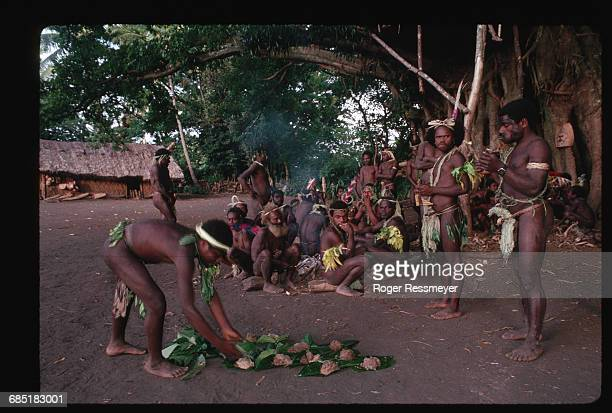 Men in Yakel village chew the root of the kava plant then spit and drink the resulting liquid This is a nightly male ritual in much of the Pacific...