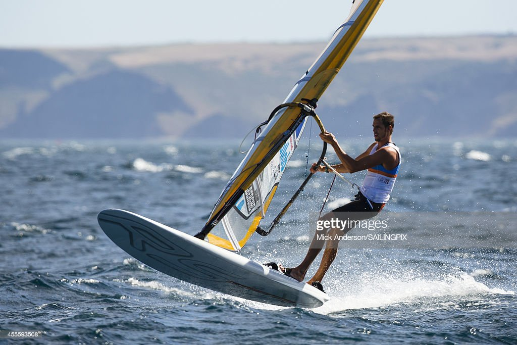 Men - NED8 - Dorian VAN RIJSSELBERGE in action during Day 6 of the 2014 ISAF Sailing World Championships on September 17, 2014 in Santander, Spain.