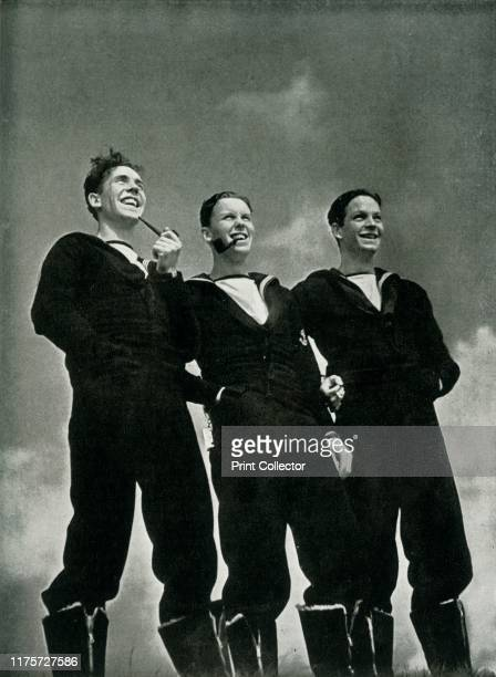 Men of the Royal Navy circa 1943 Pipesmoking British sailors during the Second World War From Fleet Air Arm [His Majesty's Stationery Office London...