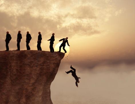 Men on a cliff 469511663