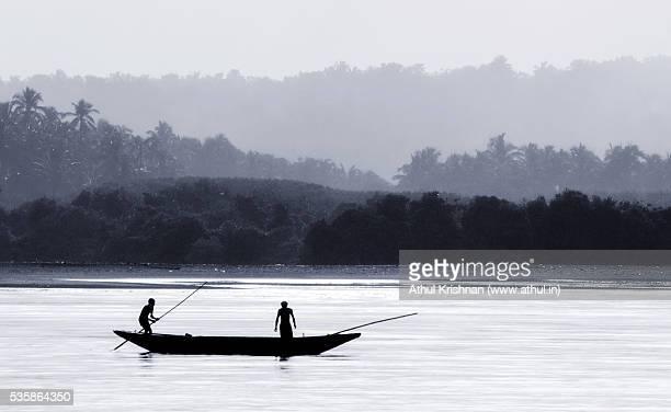 Men on boat fishing