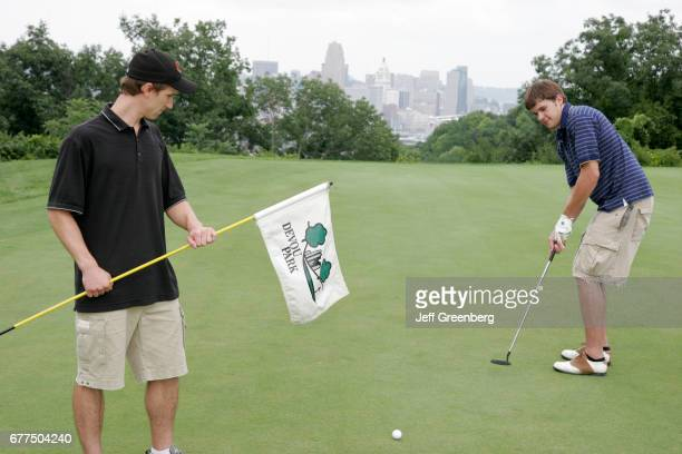 Men on the putting green at the Devou Park Golf Course