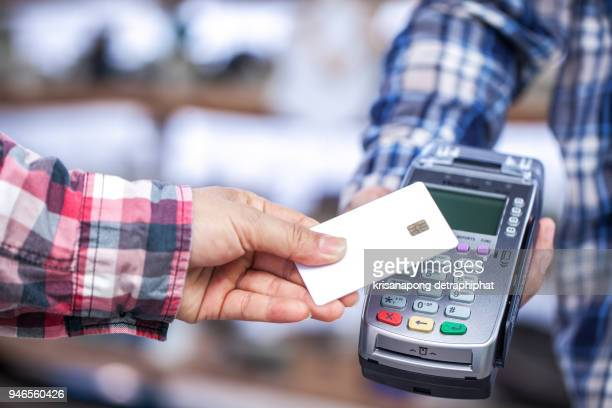 Men pay by credit card