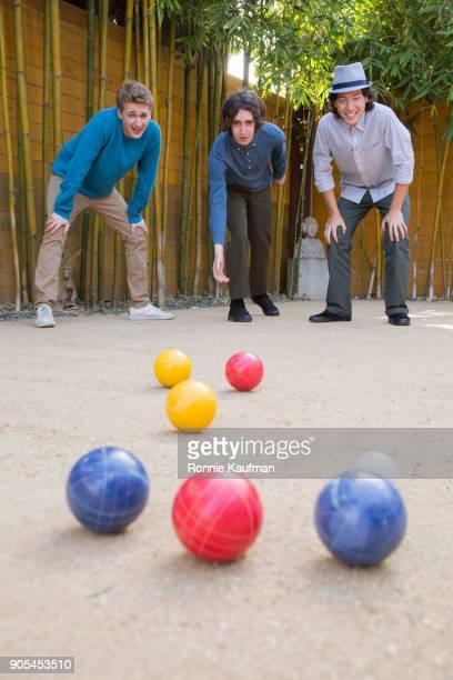 Men playing bocce