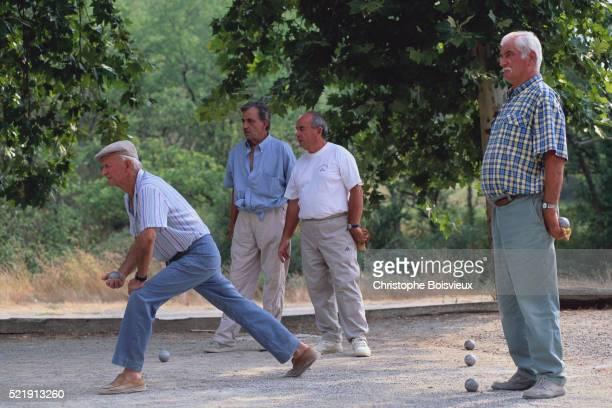 Men Playing Bocci Ball