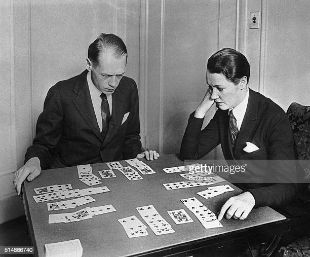Men playing bridge
