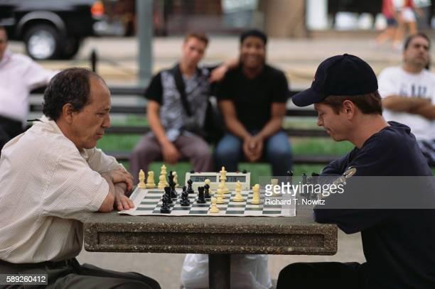 Men Playing Chess in Dupont Circle