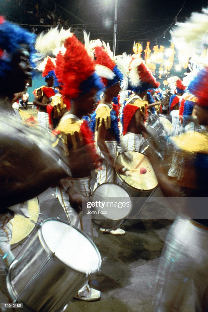 men playing drums : Stock Photo