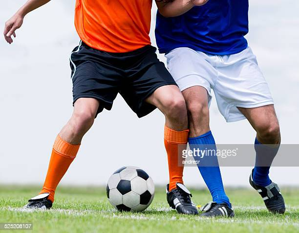 Männer spielt Fußball