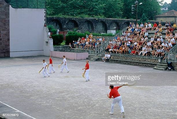 Men Playing Jai Alai
