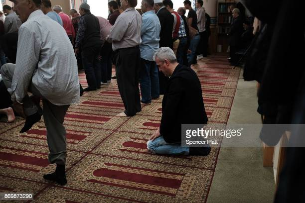 Men pray in the Eyup Cultural Center mosque which has a large number of Uzbek and Turkish worshippers from the Brighton Beach section of Brooklyn on...