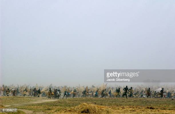 30000 men race towards the water after the starting gun was fired during the Argungu Fishing Festival on March 20 in Argungu Nigeria The Argungu...