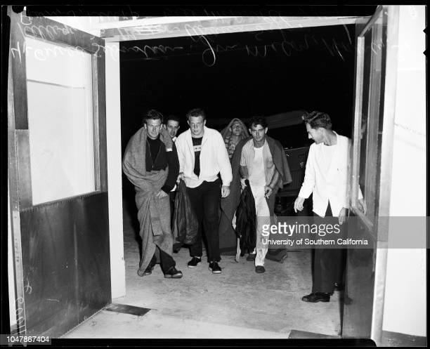 Men rescued after boat sinking 16 July 1956 Gerald Sebastian 31 years Jim McCoy Harvey S Kellogg 26 yearsBill McDowell Frank J LeuppAdam SzfasCaption...