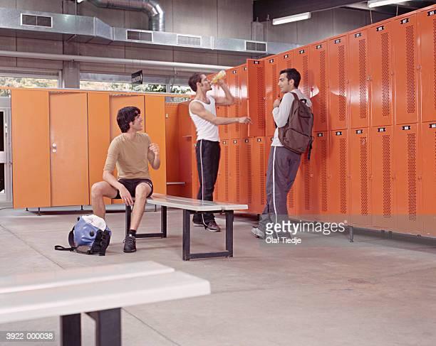 Men Resting in Changing Room