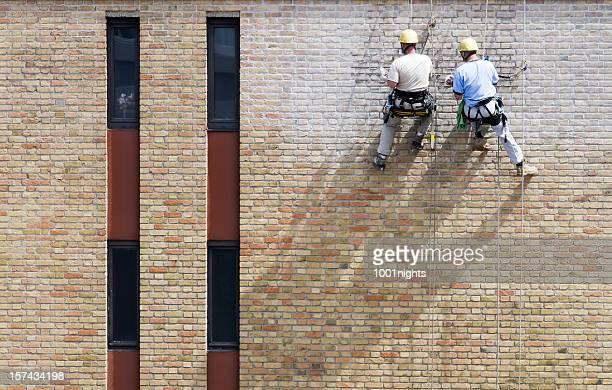 Men restoring the house